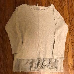 Crewcuts sweater top with ruffle hem